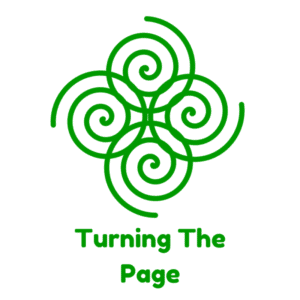 Turning the page logo spiral mental health spiritual formation
